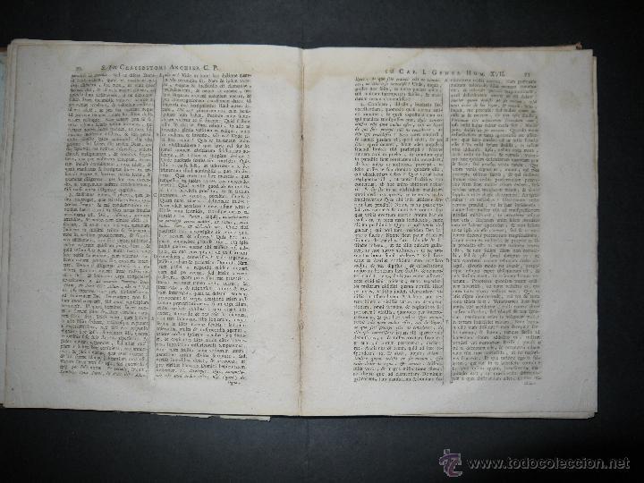 Libros antiguos: SANCTI PATRIS JOANNIS CHRYSOSTOMI ARCHIEPISCOPI CONSTANTINOPOLITANI OPERA OMNIA, 1780. - Foto 11 - 53535948