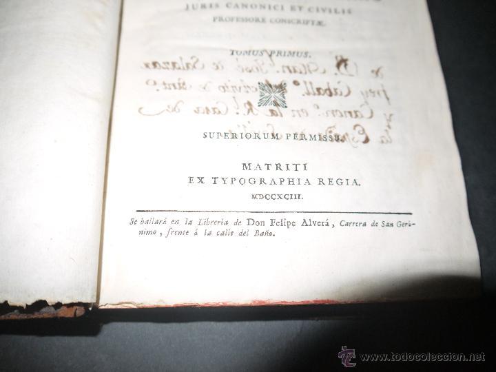 Libros antiguos: INSTITUCIONES JURIS CANONICI IN TRES PARTES, AC SEX TOMOSDISTRUBUETAE,QUIBUS,A DOMINICO CAVALLARIO. - Foto 3 - 53536943