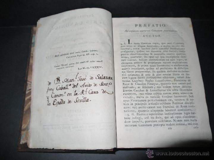 Libros antiguos: INSTITUCIONES JURIS CANONICI IN TRES PARTES, AC SEX TOMOSDISTRUBUETAE,QUIBUS,A DOMINICO CAVALLARIO. - Foto 4 - 53536943