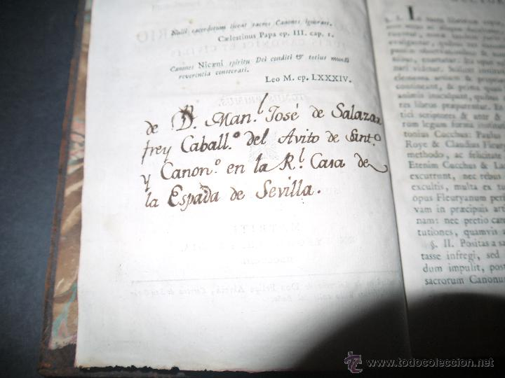 Libros antiguos: INSTITUCIONES JURIS CANONICI IN TRES PARTES, AC SEX TOMOSDISTRUBUETAE,QUIBUS,A DOMINICO CAVALLARIO. - Foto 5 - 53536943