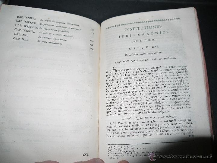 Libros antiguos: INSTITUCIONES JURIS CANONICI IN TRES PARTES, AC SEX TOMOSDISTRUBUETAE,QUIBUS,A DOMINICO CAVALLARIO. - Foto 8 - 53536943