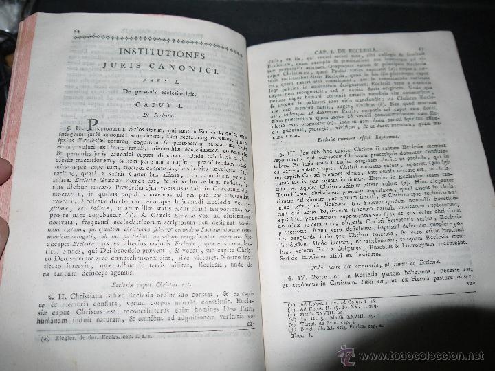 Libros antiguos: INSTITUCIONES JURIS CANONICI IN TRES PARTES, AC SEX TOMOSDISTRUBUETAE,QUIBUS,A DOMINICO CAVALLARIO. - Foto 9 - 53536943