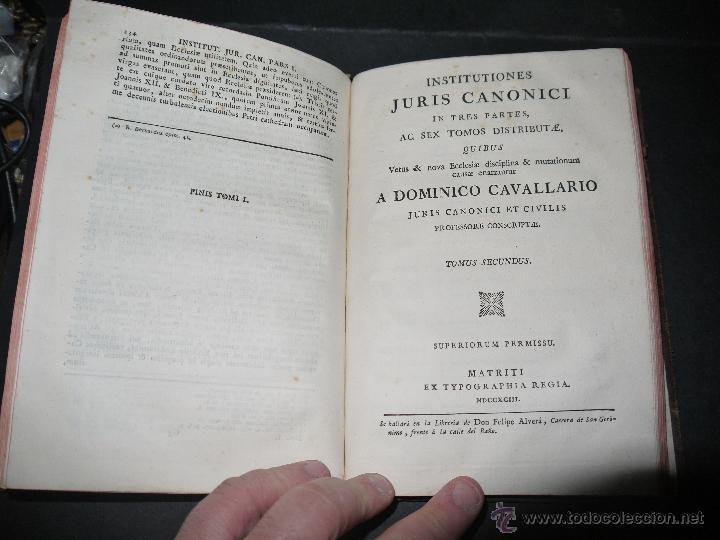 Libros antiguos: INSTITUCIONES JURIS CANONICI IN TRES PARTES, AC SEX TOMOSDISTRUBUETAE,QUIBUS,A DOMINICO CAVALLARIO. - Foto 12 - 53536943
