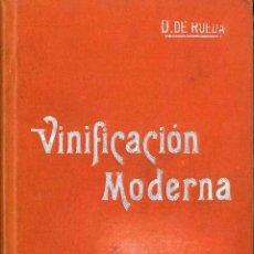 Libros antiguos: VINIFICACION MODERNA 1901. Lote 53642700