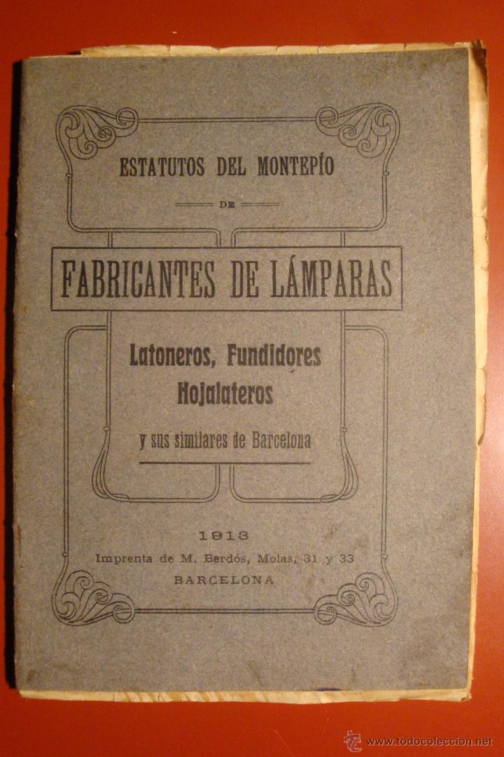 FABRICANTES DE LAMPARAS (Libros Antiguos, Raros y Curiosos - Bellas artes, ocio y coleccionismo - Otros)