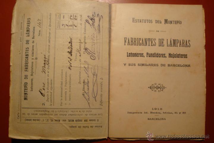 Libros antiguos: FABRICANTES DE LAMPARAS - Foto 2 - 53649867