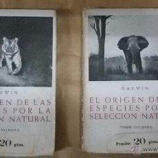 Libros antiguos: LIBRO DARWIN: EL ORIGEN DE LAS ESPECIES POR LA SELECCION NATURAL.. Lote 53668175