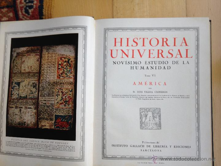 Libros antiguos: historia universal 6 vol. instituto gallach. Barcelona.1931 - Foto 8 - 53677922