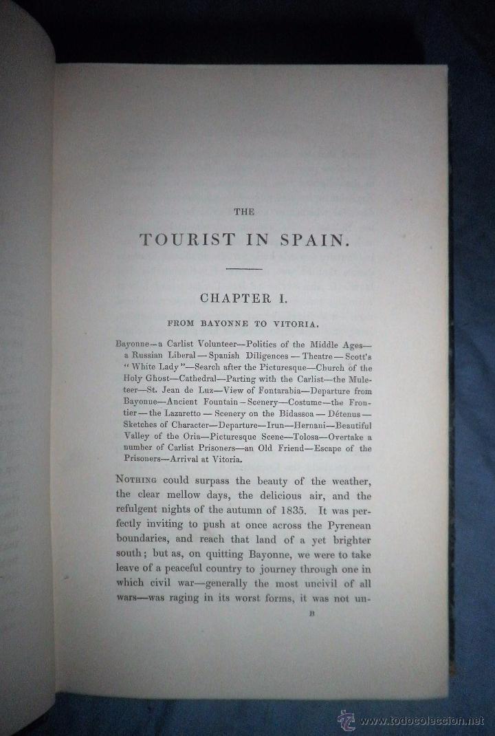 Libros antiguos: THE TOURIST IN SPAIN - 1º EDICION AÑO 1837 - THOMAS ROSCOE - VIZCAYA Y CASTILLA. - Foto 4 - 53683325