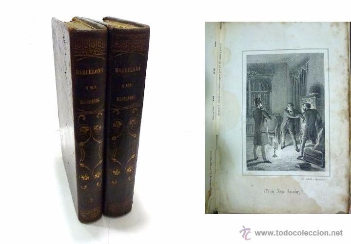 ALTADILL,ANTONIO- BARCELONA Y SUS MISTERIOS DOS TOMOS OBRA COMPLETA- AÑO 1.860 (Libros antiguos (hasta 1936), raros y curiosos - Literatura - Narrativa - Otros)