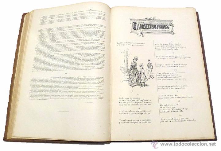 Libros antiguos: RAMON DE CAMPOAMOR, OBRAS COMPLETAS-ILUSTRACIONES MODERNISTAS DE J.LUIS PELLICER- AÑO 1.888 - Foto 3 - 53703375