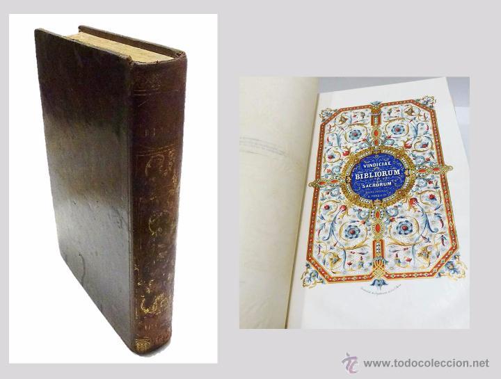 M.AB.DU-CLOT, JOSE PALAU- VINDICIAS DE LA SAGRADA BIBLIA CONTRA LOS TIROS DE LA INCREDULIDAD-1.845 (Libros Antiguos, Raros y Curiosos - Pensamiento - Otros)