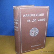 Libros antiguos: BEDEL, A. TRATADO COMPLETO DE MANIPULACIÓN DE LOS VINOS. [S.A., C.1900]. Lote 53713681