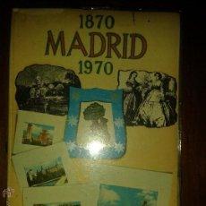 Libros antiguos: LIBROS ARTE MADRID - MADRID 1870-1970 DE SIGLO A SIGLO LIBRO Y 24 DIAPOSITIVAS 12X17 CM 81 PAG. Lote 53715491