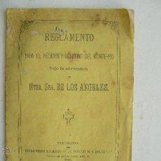 Libros antiguos: REGLAMENTO PARA EL RÉGIMEN Y GOBIERNO DEL MONTE-PÍO BARCELONA 1880. Lote 53730584