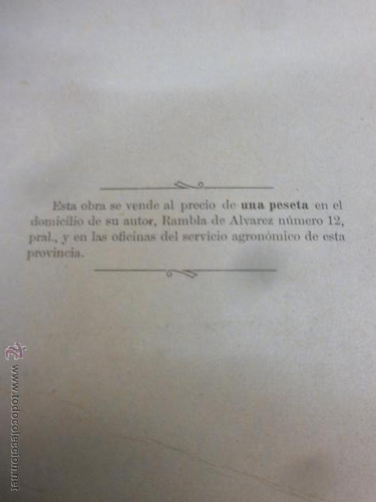 Libros antiguos: Libro - La Remolacha Azucarera - Guía practica para el cultivo - Enrique R. de Celis - Gerona - 1900 - Foto 6 - 53748814
