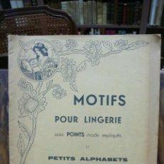 Libros antiguos: CATÁLOGO DE CARTIER-BRESSON. MOTIFS POUR LINGERIE ET PETITS ALPHABETS COMBINABLES. . Lote 53750400