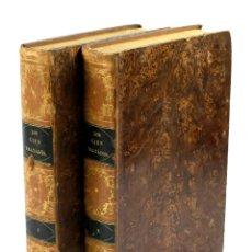 Libros antiguos: INSTRUCCIÓN PARA EL PUEBLO, 100 TRATADOS. 2 TOMOS, S.XIX. 17X25CM.. Lote 53797336