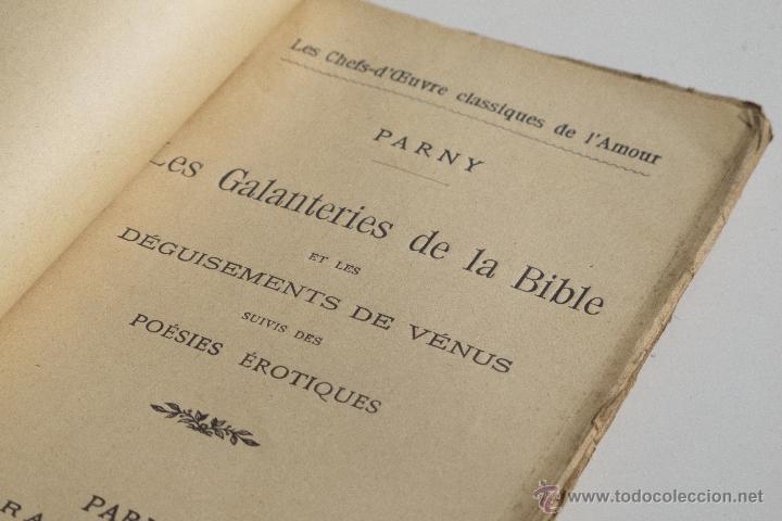 Libros antiguos: Les Galanteries de la Bible - Parny - Foto 3 - 53800772