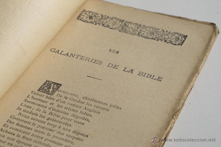 Libros antiguos: Les Galanteries de la Bible - Parny - Foto 5 - 53800772