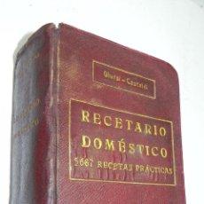 Libros antiguos: RECETARIO DOMESTICO 5667 RECETAS PRÁCTICAS, POR GHERSI - CASTOLDI, ED. GUSTAVO GILI, OBRA ILUSTRADA . Lote 53804547