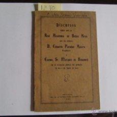 Libros antiguos: SEVILLA. DISCURSOS LEÍDOS ANTE LA REAL ACADEMIA DE BELLAS ARTES.. Lote 53813874