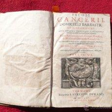 Libros antiguos: 1635 IACOBI CANCERII, DOMICELLI BARBASTR. TVRNONI. LAVRENTII DVRAND. 1635 CVM PRIVILEGIO REGIS.. Lote 53842629