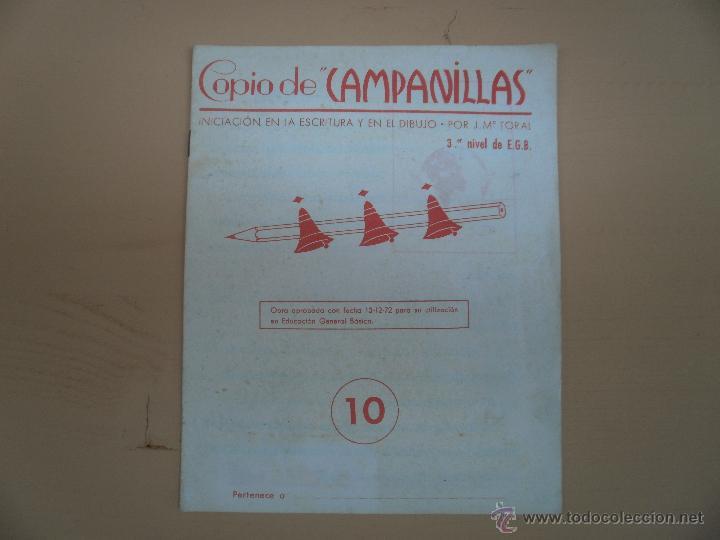 LIBRETA COPIO CAMPANILLAS 3 DE EGB NUMERO 10 (Libros antiguos (hasta 1936), raros y curiosos - Literatura - Narrativa - Otros)