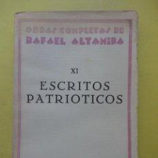 Livres anciens: ESCRITOS PATRIÓTICOS. AÑO 1929. Lote 53938498