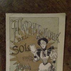 Libros antiguos: ALMANAQUE DEL SOL AÑO 1894 (MUY RARO). Lote 53971027