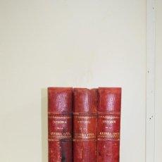 Libros antiguos: 3 TOMOS DE LA GUERRA CIVIL , AÑO 1890. Lote 53976983