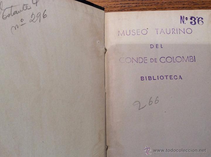 Libros antiguos: Libro toros De caballista a matador de toros, año 1915 - Foto 3 - 54003831