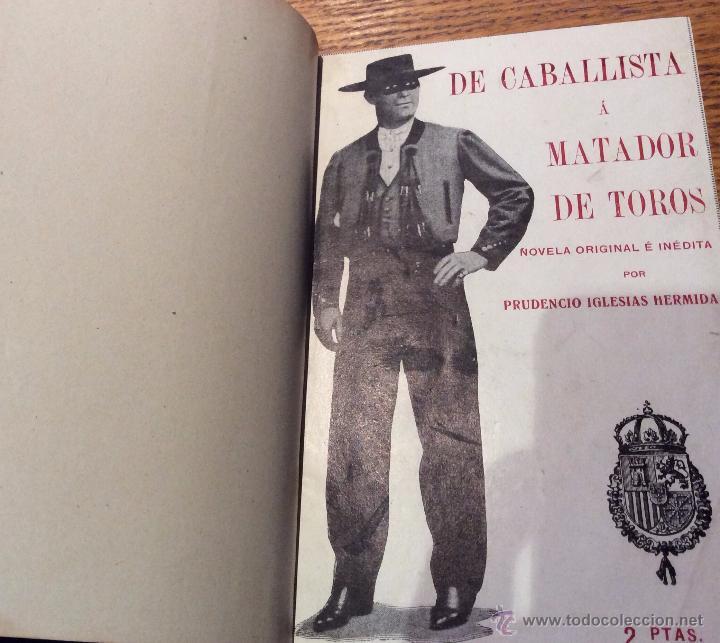 Libros antiguos: Libro toros De caballista a matador de toros, año 1915 - Foto 4 - 54003831