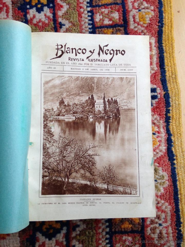 Libros antiguos: lote de 13 revistas Blanco y negro en cuadernadas(nº 2029 a 2041), años 30. - Foto 2 - 54008419