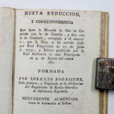 Libros antiguos: NUEVA REDUCCION Y CORRESPONDENCIA MONEDA ORO CATALUÑA... PIFERRER ED. 10X15CM.. Lote 54048256