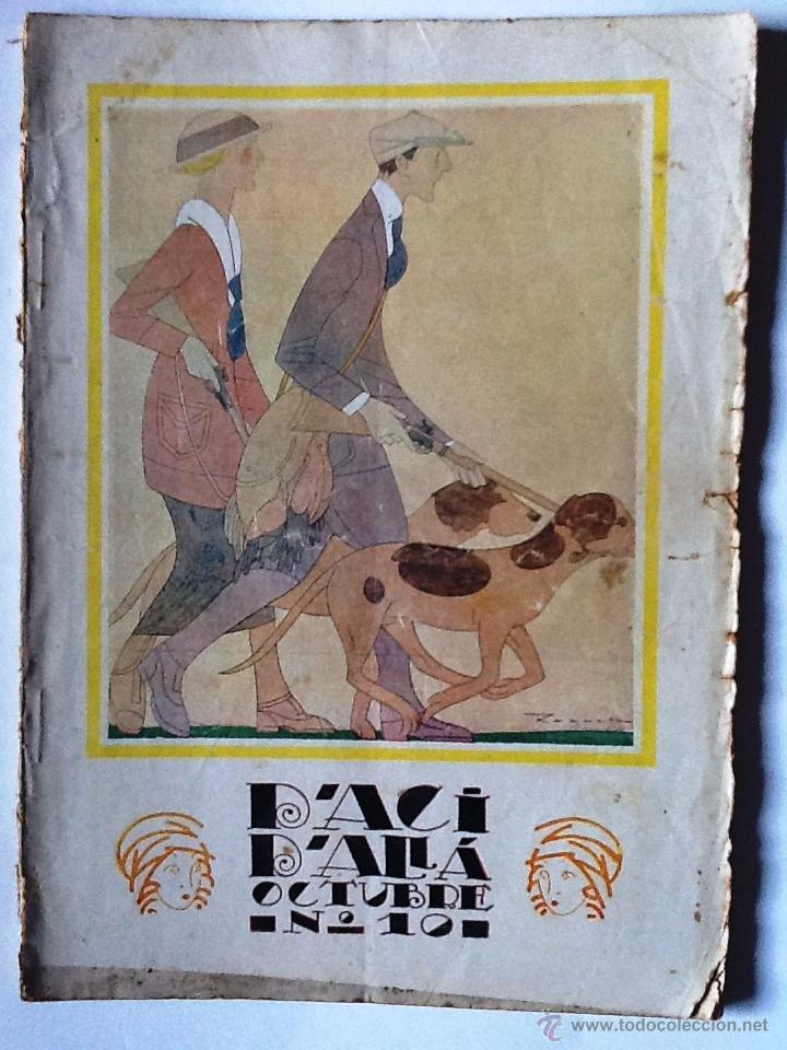 D'ACI I D'ALLA OCTUBRE 1921 Nº 10 (Libros antiguos (hasta 1936), raros y curiosos - Literatura - Narrativa - Otros)