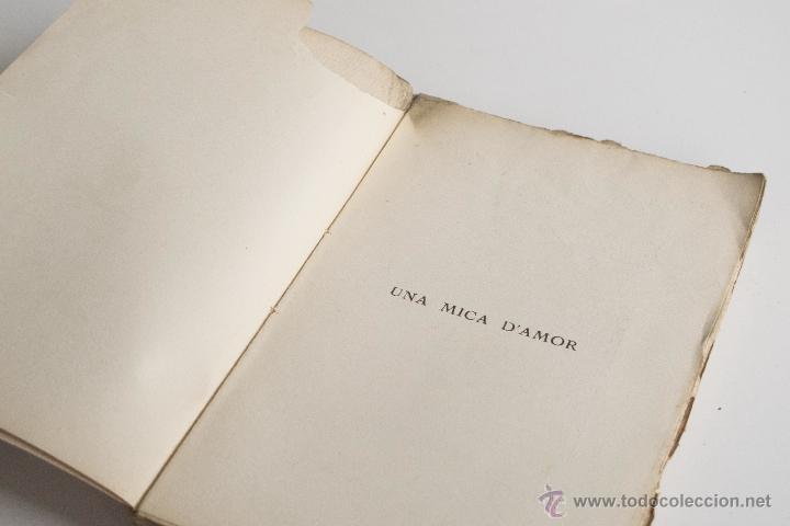 Libros antiguos: Una mica d'amor - Joan Puig i Ferreter - Foto 3 - 54169995