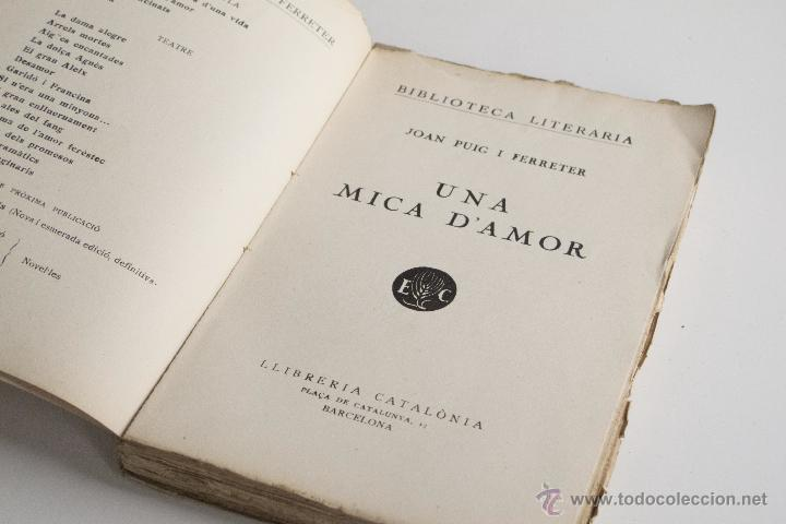 Libros antiguos: Una mica d'amor - Joan Puig i Ferreter - Foto 4 - 54169995