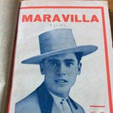 Libros antiguos: LIBRO TOROS MARAVILLA, MATADOR DE TOROS, DE PEPE MADRILES. 1932. Lote 54174149