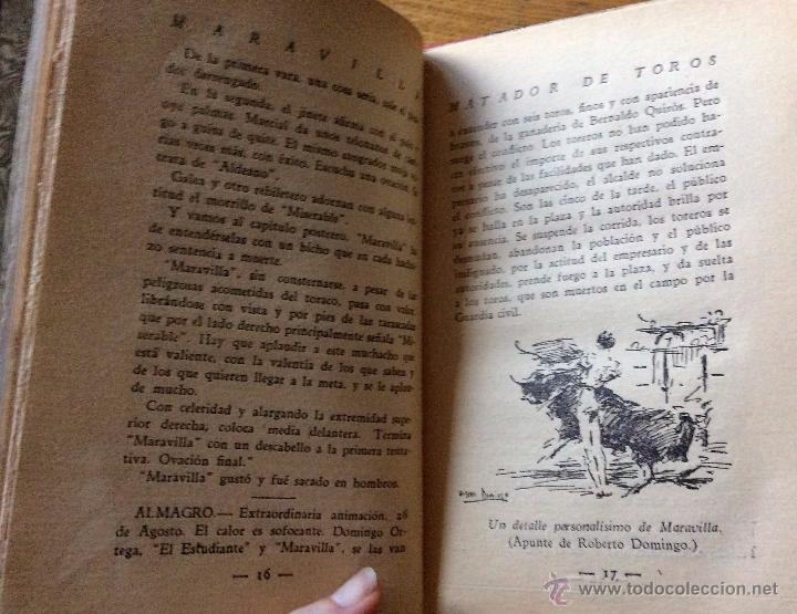 Libros antiguos: Libro toros Maravilla, matador de toros, de Pepe Madriles. 1932 - Foto 4 - 54174149