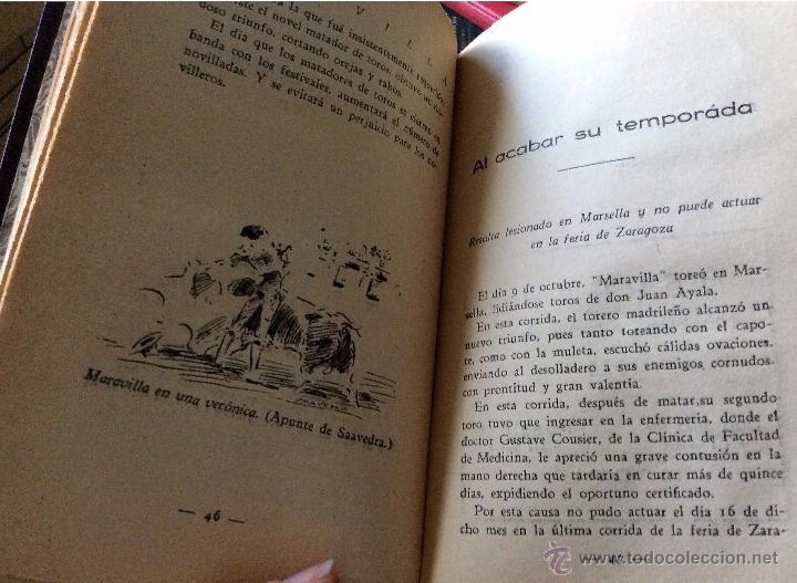 Libros antiguos: Libro toros Maravilla, matador de toros, de Pepe Madriles. 1932 - Foto 5 - 54174149