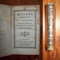 Libros antiguos: GESSNER, SALOMON. OEUVRES COMPLETES DE GESSNER. TOME SECOND. Lote 54191955
