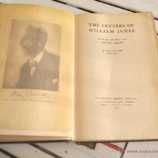 Libros antiguos: THE LETTERS OF WILLIAM JAMES. 1920. LONGMANS, GREEN AND CO. VOLUME I.. Lote 54193940