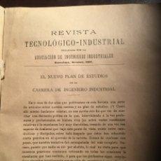 Libros antiguos: REVISTA TECNOLÓGICO INDUSTRIAL. BARCELONA. OCTUBRE 1907. Lote 54232321