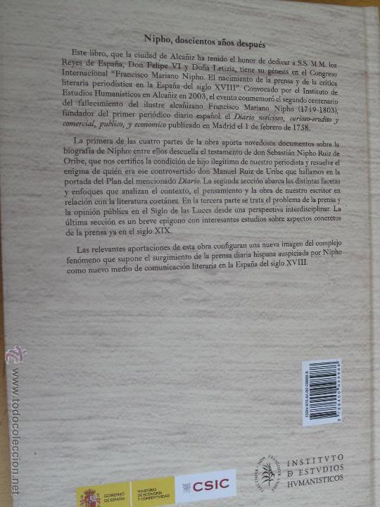 Libros antiguos: EL NACIMIENTO DE LA PRENSA Y DE LA CRÍTICA LITERARIA PERIODISTICA EN LA ESPAÑA DEL SIGLO XVIII.- - Foto 2 - 54276406