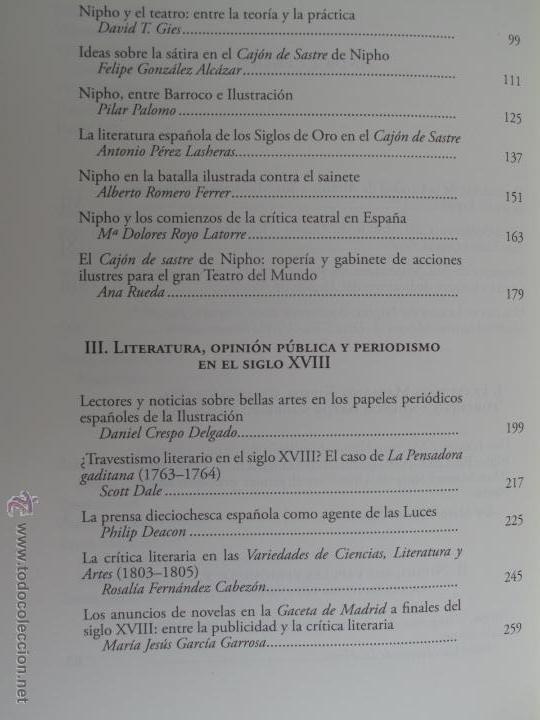 Libros antiguos: EL NACIMIENTO DE LA PRENSA Y DE LA CRÍTICA LITERARIA PERIODISTICA EN LA ESPAÑA DEL SIGLO XVIII.- - Foto 4 - 54276406