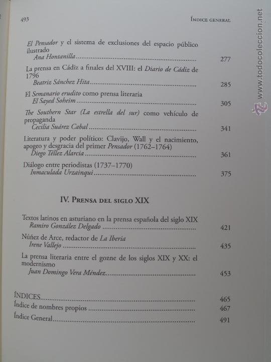 Libros antiguos: EL NACIMIENTO DE LA PRENSA Y DE LA CRÍTICA LITERARIA PERIODISTICA EN LA ESPAÑA DEL SIGLO XVIII.- - Foto 5 - 54276406