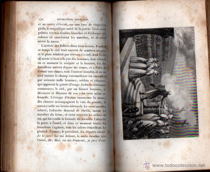 Libros antiguos: THIERS : HISTOIRE DE LA REVOLUTION FRANÇAISE - 10 VOLÚMENES (FURNE, PARIS, 1838) - Foto 2 - 54295743