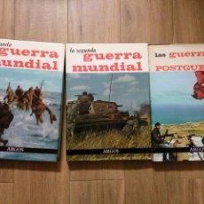 Libros antiguos: TRES TOMOS LA SEGUNDA GUERRA MUNDIAL Y LAS GUERRAS DE LAS POSTGUERRA DE ARGOS. Lote 54306191