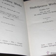 Libros antiguos: SHAKESPEARE WERKE. 8 TOMOS EN 4 VOLUMENES.DEUTSCHES VERLAGSHAUS.. Lote 54316255